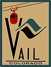 Vail Colorado Vintage Travel Decal by hilda74
