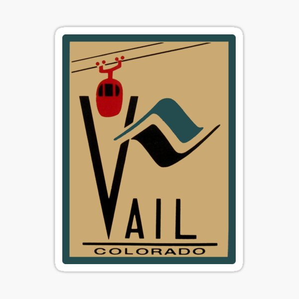 Vail Colorado Vintage Travel Decal Sticker
