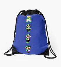 All 8 Bit Luigi Drawstring Bag