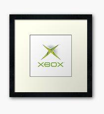 Xbox White Logo Framed Print