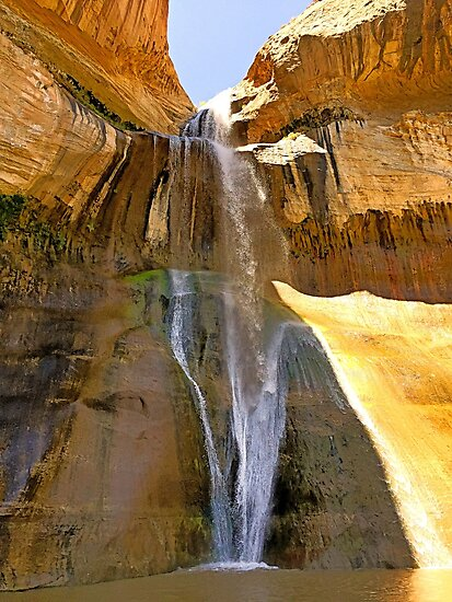 Lower Calf Creek Falls  by Robert Meyers-Lussier