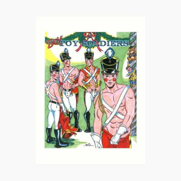 Boy Toy Soldiers Art Print