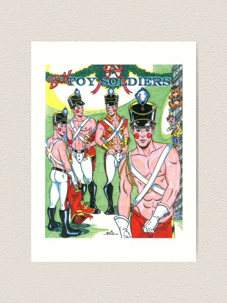 Alternate view of Boy Toy Soldiers Art Print