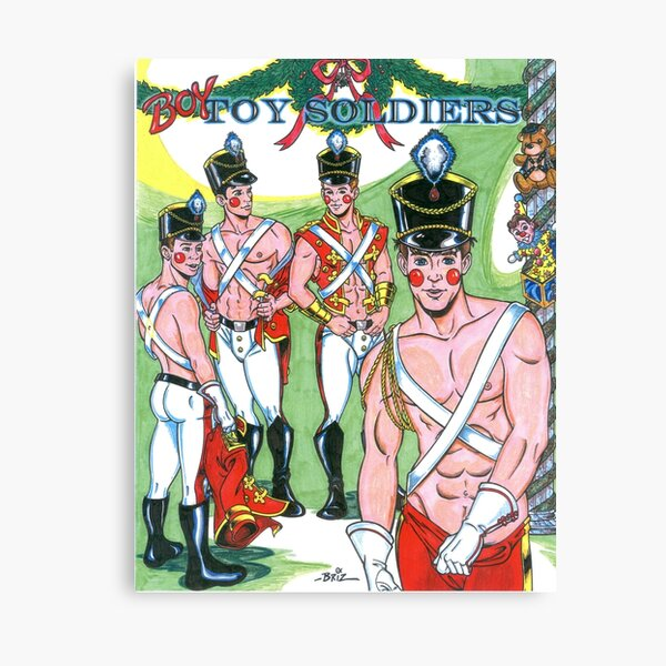 Boy Toy Soldiers Canvas Print