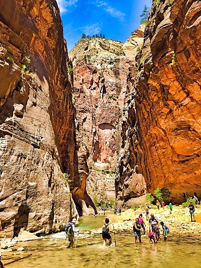 Hiking The Narrows  by Robert Meyers-Lussier