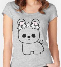 Cute Pet Bunny Rabbit Blanc de Hotot with Star Crown Women's Fitted Scoop T-Shirt