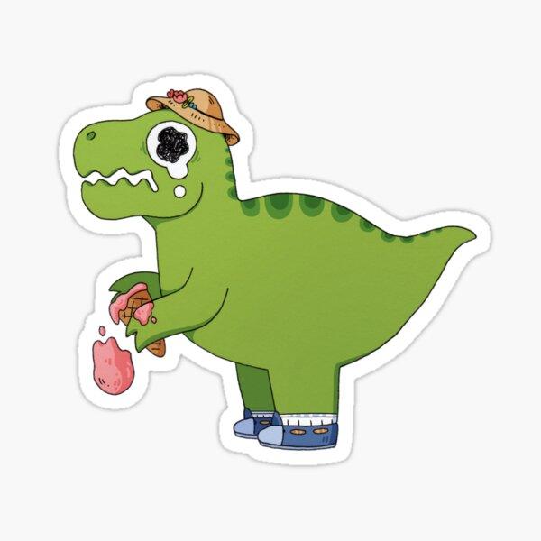 T-Rex Ice Cream Sticker