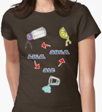 Lick, Sip, Suck - with instructions Women's Fitted T-Shirt