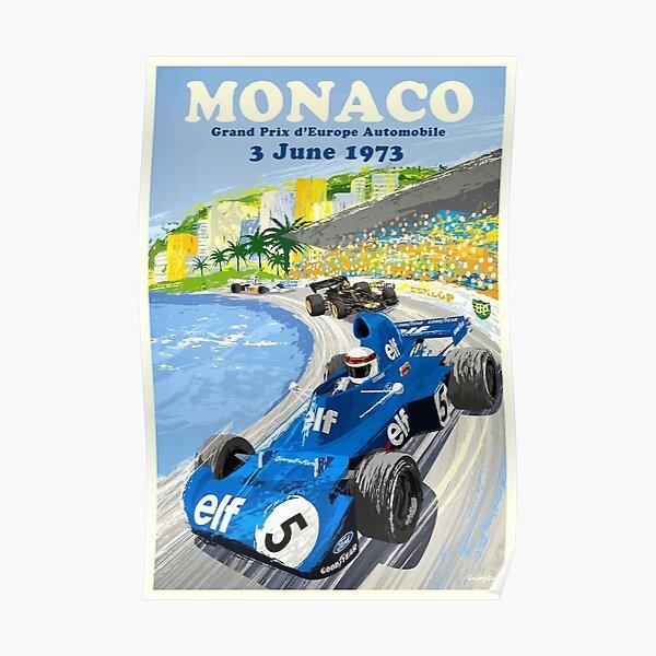 1973 Europe Grand Prix Monaco Race Poster Poster
