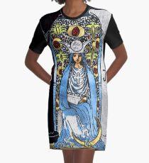Tarot Gold Edition - Große Arcana - Die Hohepriesterin T-Shirt Kleid