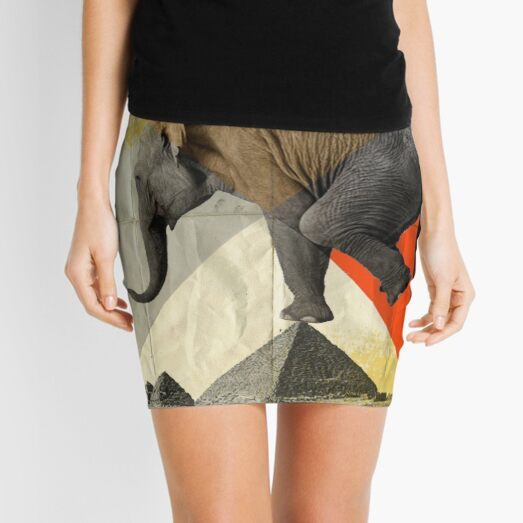 Balance of the Pyramids Mini Skirt