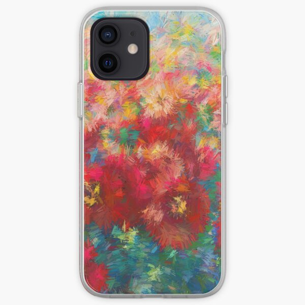 Floral Abstract - Wild Poppies iPhone Soft Case