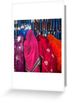 Rajasthani Shopping Spree - Greeting Card by Glen Allison