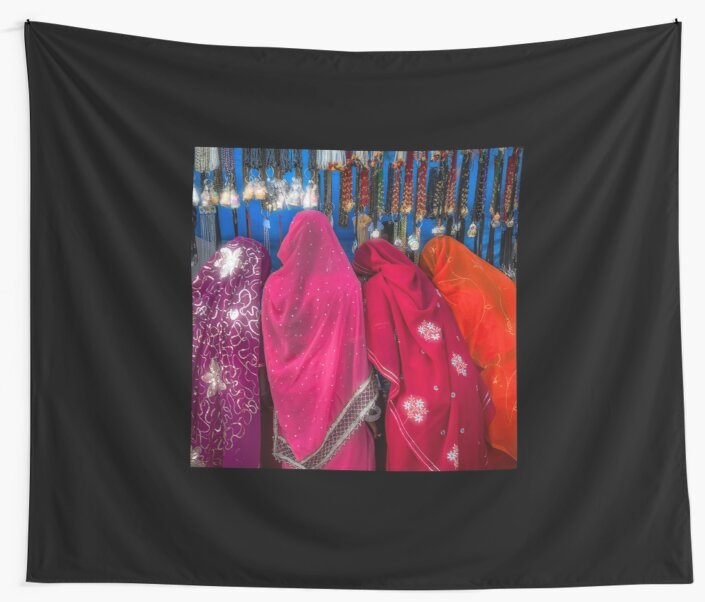 Rajasthani Shopping Spree - Wall Tapestry by Glen Allison