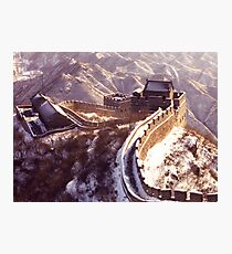 Winter at the Great Wall of China Photographic Print