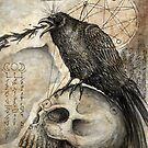 Raven and Skull in Ceremony by ARTmuffin