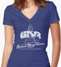 Galaxy News Radio Women's Fitted V-Neck T-Shirt