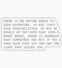 adventure quote Sticker