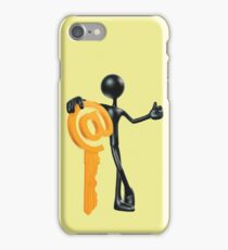 Man with a key - @! iPhone Case/Skin