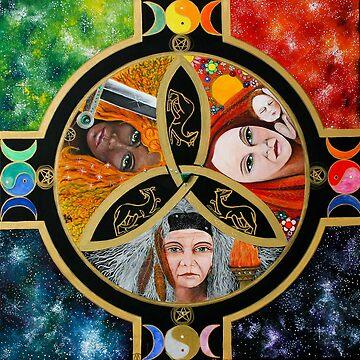 The Triple Goddess Mandala by Marg Thomson by fullcirclemandalas