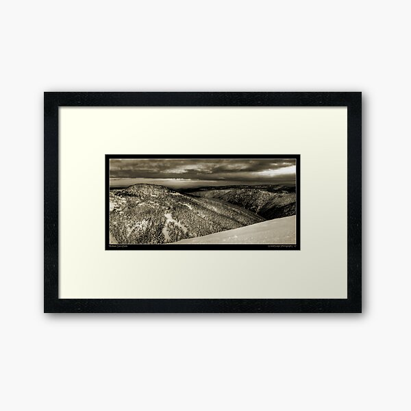 Hotham Snowfields Framed Art Print