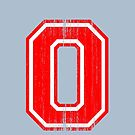 Big Red Letter O by adamcampen