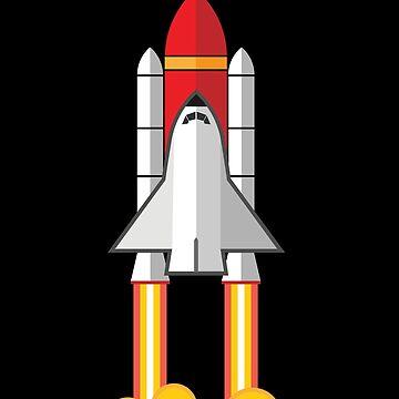 Rocket Space Shuttle Houston by AlienatedOpus