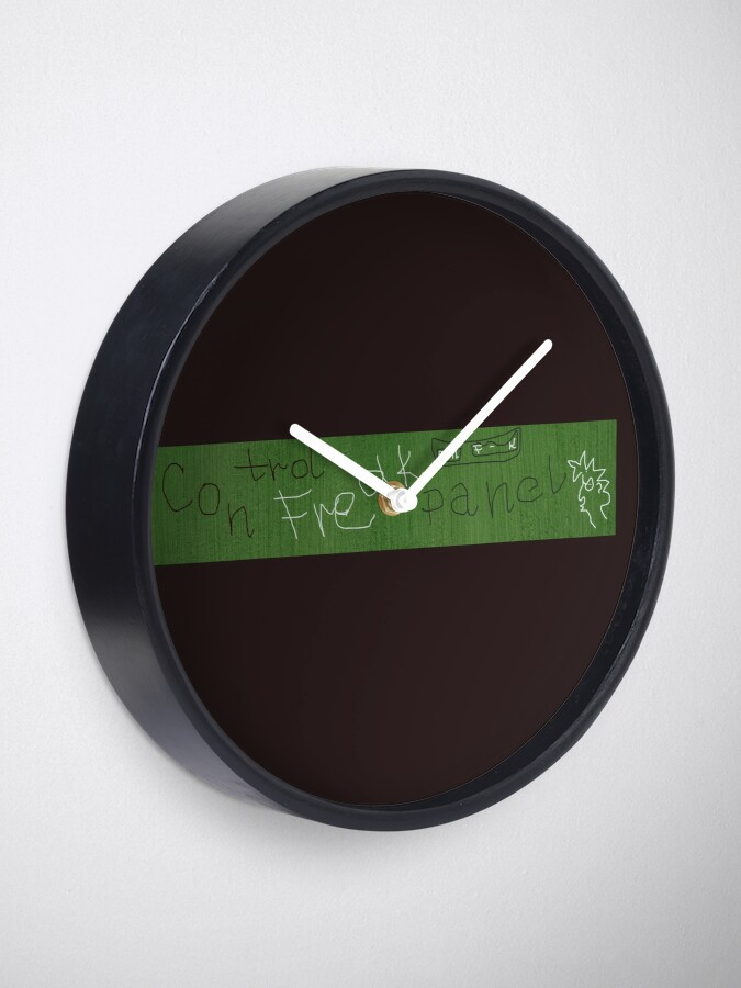 Alternate view of Control freak panel Clock