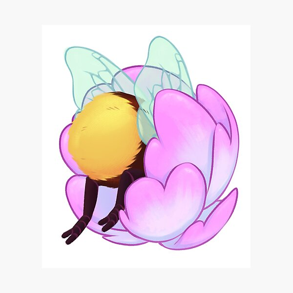 Adorable bee butt Photographic Print