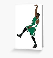 """Kyrie Irving """"Hold It"""" Greeting Card"""