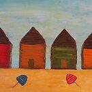 Rustic Beach Shacks by Julie  Sutherland