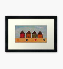 Rustic Beach Shacks Framed Print