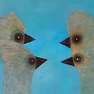 Emu Gathering 11 by Julie  Sutherland