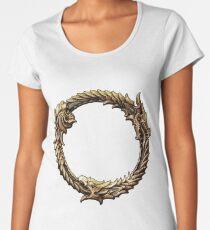 Elder Scrolls Dragon loop Women's Premium T-Shirt