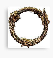 Elder Scrolls Dragon loop Canvas Print