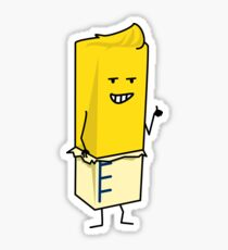 Buttered Buttery Stick of Butter Happy Thumbs Up Sticker