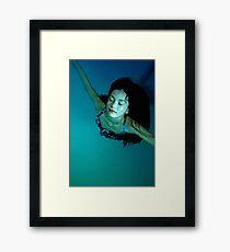 the swimmer Framed Print