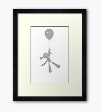 Zoe takes a ride. Framed Print
