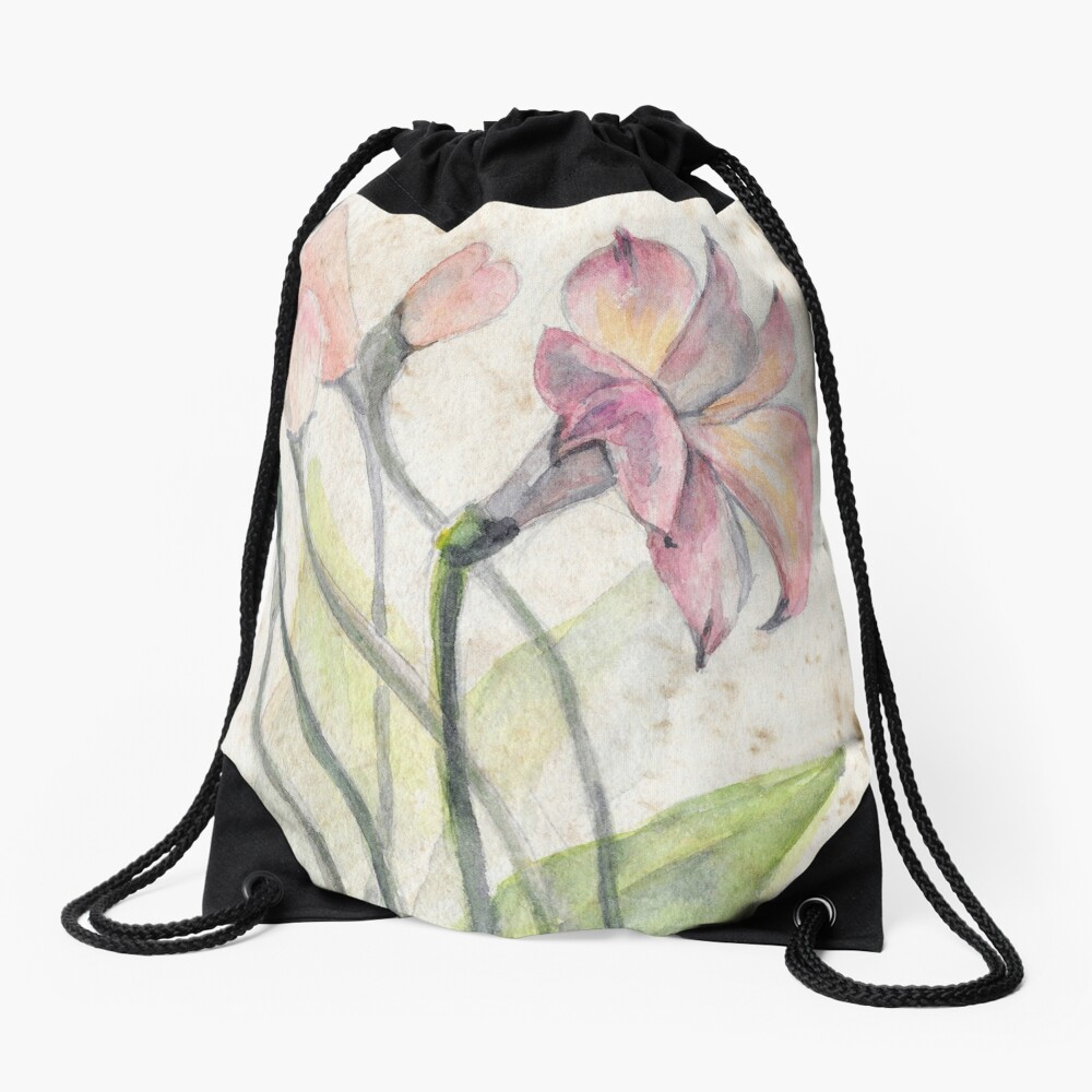 Flowers Drawstring Bag Front