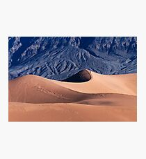Sunrise over Mesquite Flat Sand Dunes Photographic Print