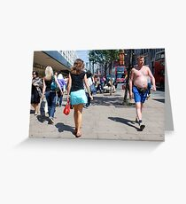 shirt shopping in oxford street Greeting Card