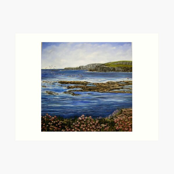 """Kilkee Cliffs - County Clare"" Art Print"