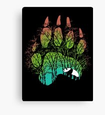 Panda track Canvas Print