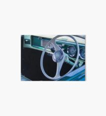 Vintage Car Steering Wheel Art Board