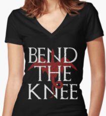 Camiseta entallada de cuello en V Camiseta con la mejor curva en la rodilla - Mother of Dragons T-shirt