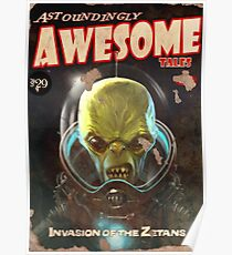 Astoundingly Awesome Tales : Invasion of the Zetans fallout 4 poster Poster