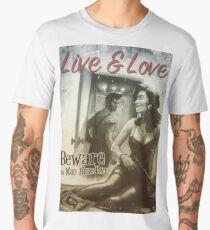 Live & Love : Beware the Man Handler Fallout 4 poster  Men's Premium T-Shirt