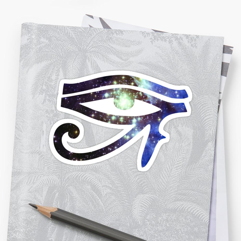 'Kid Cudi Galaxy [Blue]   Eye of Ra [Eye of Horus]' Sticker by SirDouglasFresh