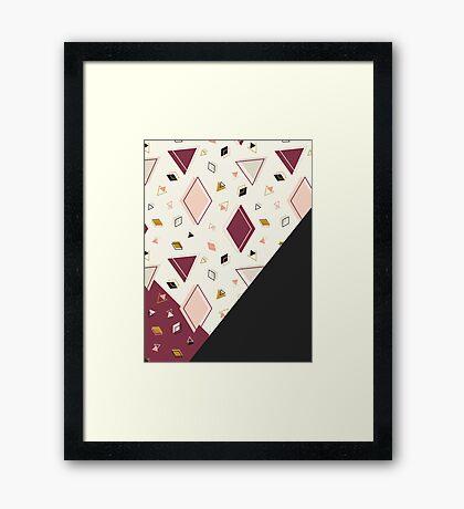 Rhombus Mix #redbubble #decor #buyart Framed Print