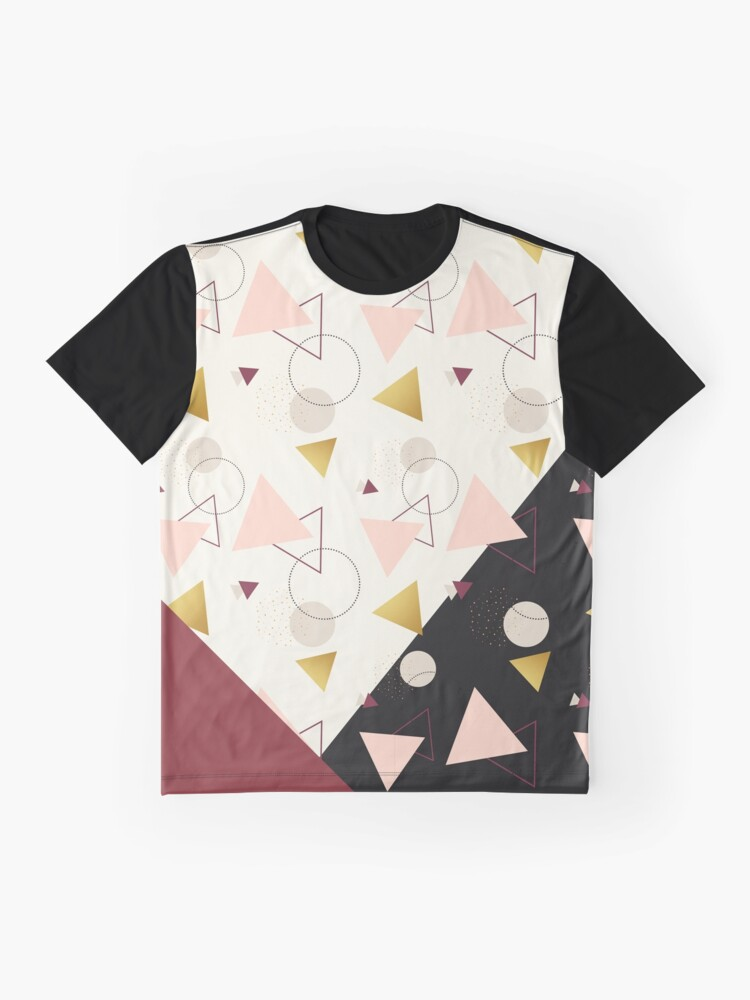 Alternate view of Triangles Mix #redbubble #decor #buyart Graphic T-Shirt